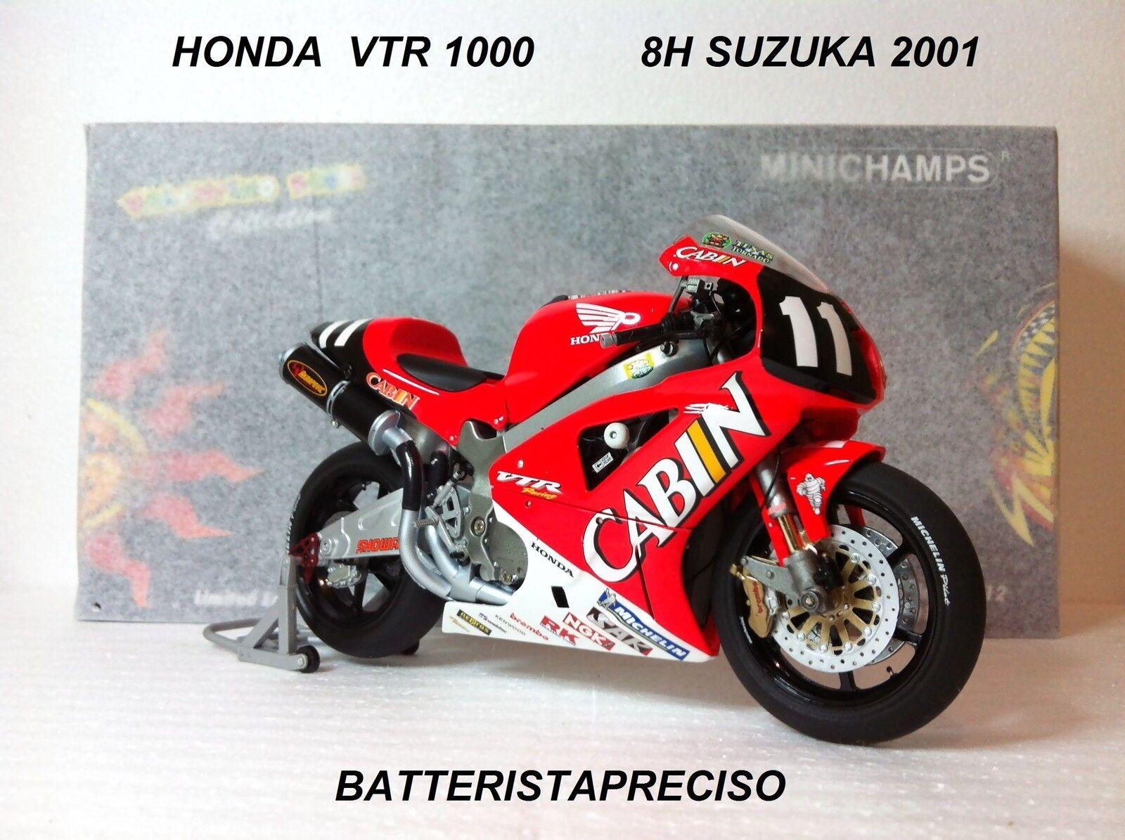 MINICHAMPS VALENTINO ROSSI 1 12 HONDA 2001 VTR 1000 CABIN  8 H SUZUKA L.E. 4999