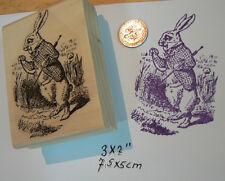 P3 Alice in Wonderland's rabbit rubber stamp WM