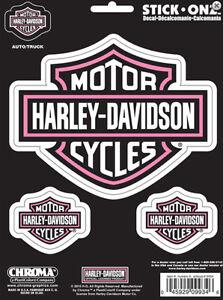 Harley-Davidson Pink Camo B/&S 3-pk Decals  DECAL
