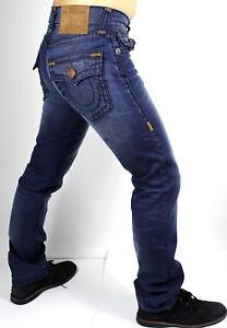 True-Religion-329-Men-039-s-Ricky-Blue-Mariner-Straight-Super-T-Jeans-MDA859N28N