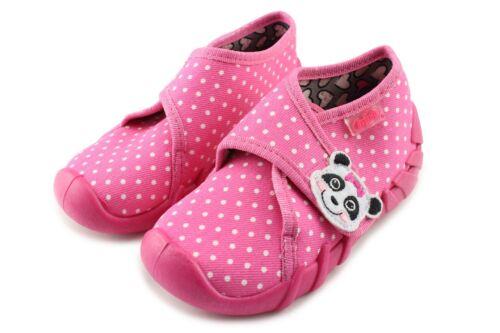Made in Poland Befado Pink Dots Panda Slipper 112P184 Shoes