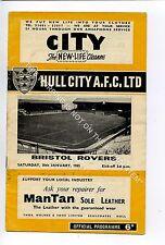 (Ga5329-469) Hull City vs Bristol Rovers 3rd Division 30/1/1965 G-VG