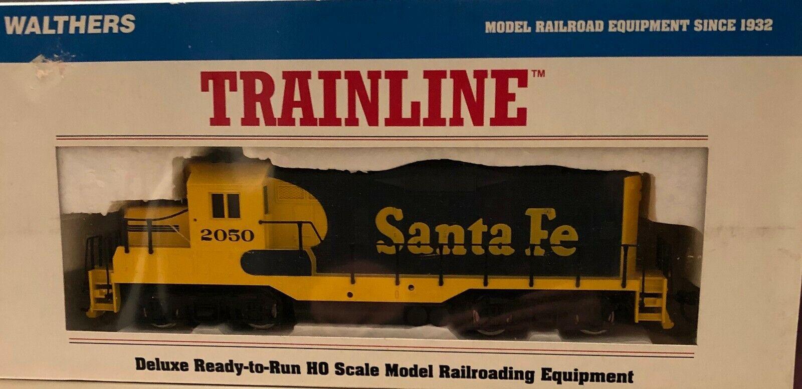 Walthers TRAINLINE HO Scale Santa Fe EMD GP9M Model Train - Brand New