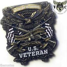 """ARMY VETERAN FOREVER WILL I OWN TITLE AMERICAN FLAG MILITARY 2"""" CHALLENGE COIN"""