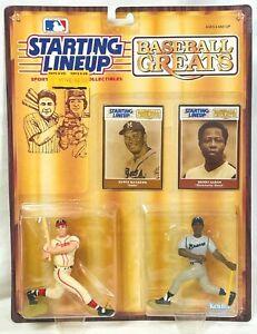 "/""Baseball Greats/"" ATLANTA BRAVES Starting Lineup Card 1989  HENRY AARON"