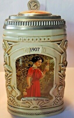 COLLECTORS CLUB 1997 MEMBERSHIP STEIN BUDWEISER GIRLS HISTORICAL REFLECTIONS