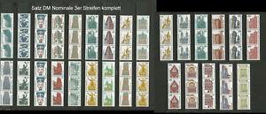 BRD SWK ex 1339 R - 1811 R, 29 3er Streifen postfrisch kpl.  #h768