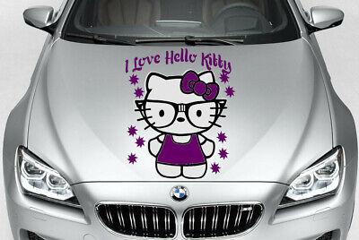 TRIBAL HELLO KITTY CUTE GIRL SWIRLS DECAL VINYL GRAPHIC HOOD CAR TRUCK