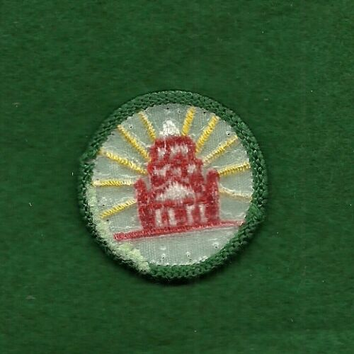 PLASTIC BACK MY COMMUNITY FREE SHIPPING VINTAGE GIRL SCOUT BADGE