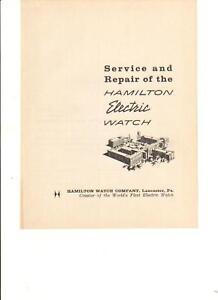 Assistenza-e-riparazione-dell-039-HAMILTON-OROLOGIO-ELETTRICO-MANUALE-LIBRO-SU-CD