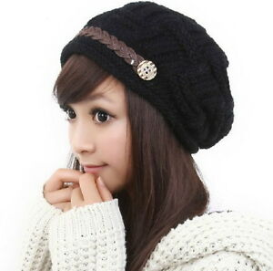 Bubble-Knit-Slouchy-Baggy-Beanie-Oversize-Winter-Hat-Ski-Slouchy-Cap-Skull-Women