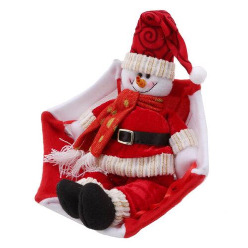 Santa Claus Snowman Christmas New Year Home Ceiling Decorations Parachute HO3