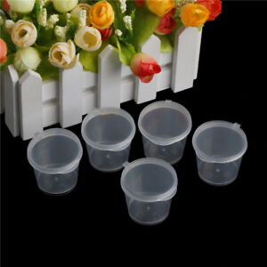 100xClear-Plastics-Disposable-Sauce-Cups-Food-Containers-Storages-Pots-with-L-PG