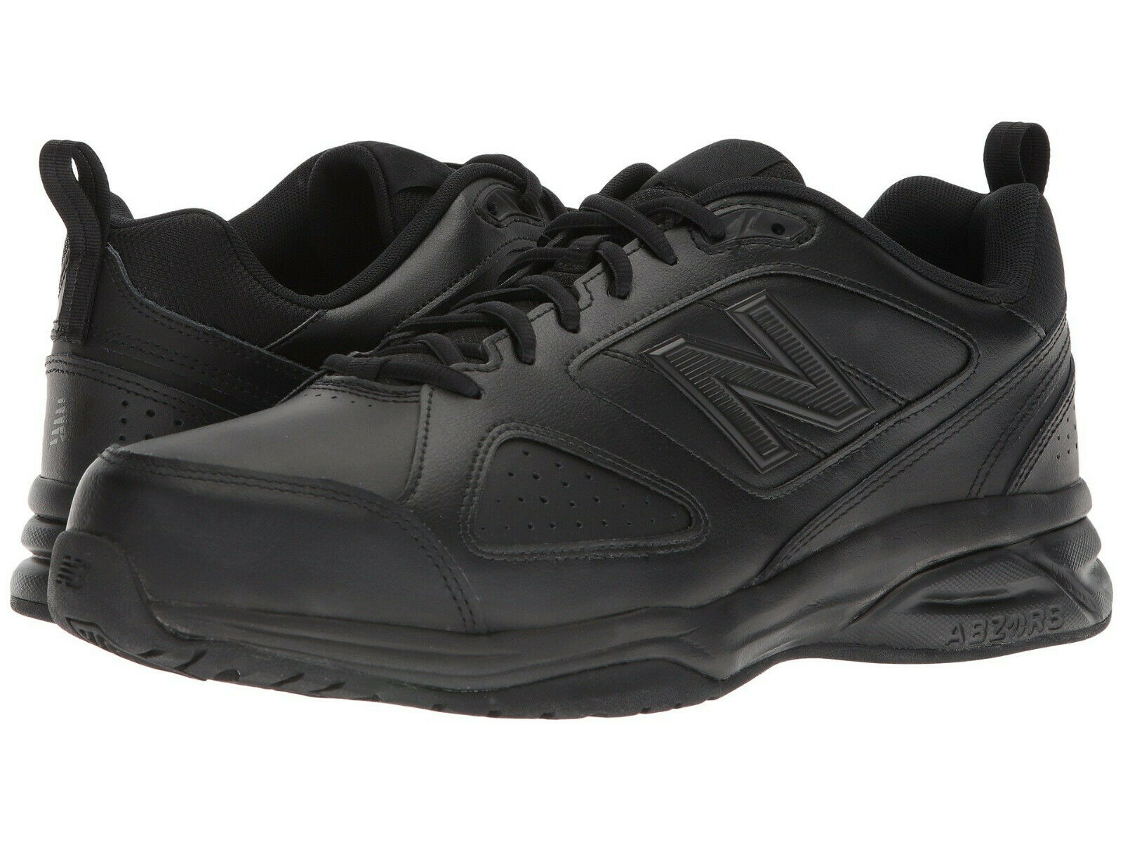Men New Balance MX623AB3 Walking shoes Wide 2E Black Leather 100% Authentic New