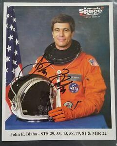 JOHN BLAHA 8x10 AUTOGRAPHED PHOTO - Astronaut - Space Shuttle - MIR - Signed