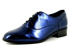 en Chaussures afficher Détails 5 Synthétique Flats Lacets Bleu le Oxford Femme Cuir titre 5 sur La R UK d'origine Edition Pour à Redoute 80PwOXnk