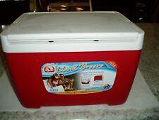 Igloo Cooler Standard Camping Marine Side Handle 48 qt Quartz Red Odor Resist