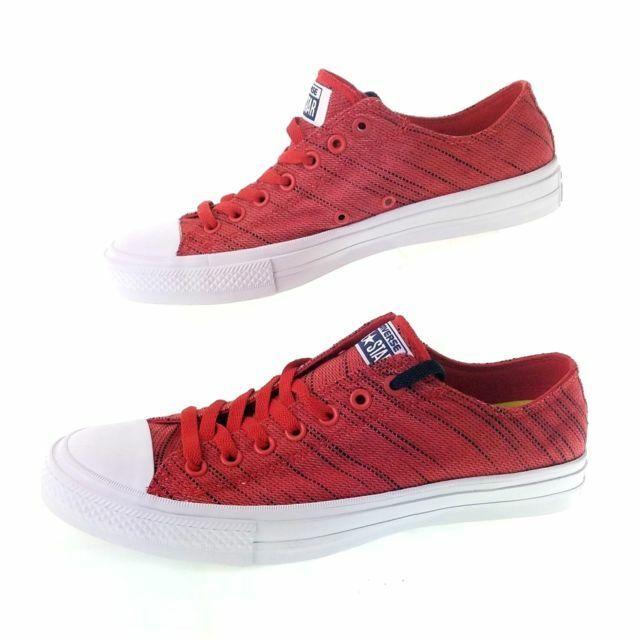 NEW CONVERSE CHUCK TAYLOR ALL STAR II HI BLACK RED SZ 9.5 Not For Resale Jordan