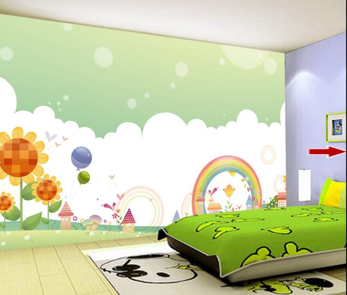 3D Himmel Rasen Blumen 5 Tapete Tapeten Mauer Foto Familie Tapete Wandgemälde DE