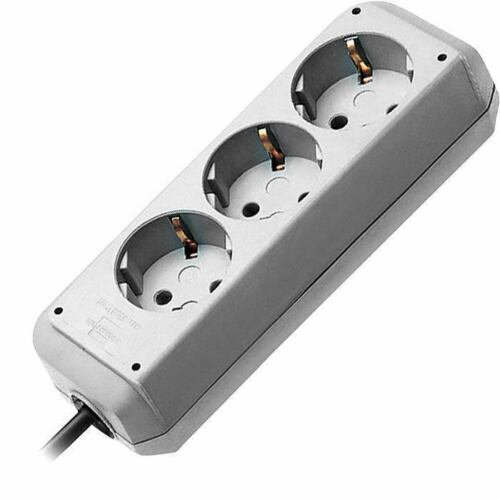 Brennenstuhl Steckdosenleiste Eco 3fach silver