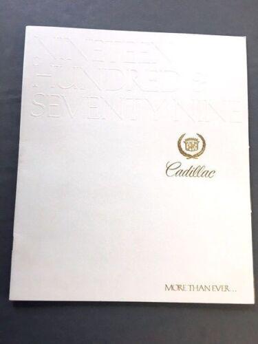 1979 Cadillac 36-page Car Brochure Catalog Seville Eldorado Fleetwood DeVille