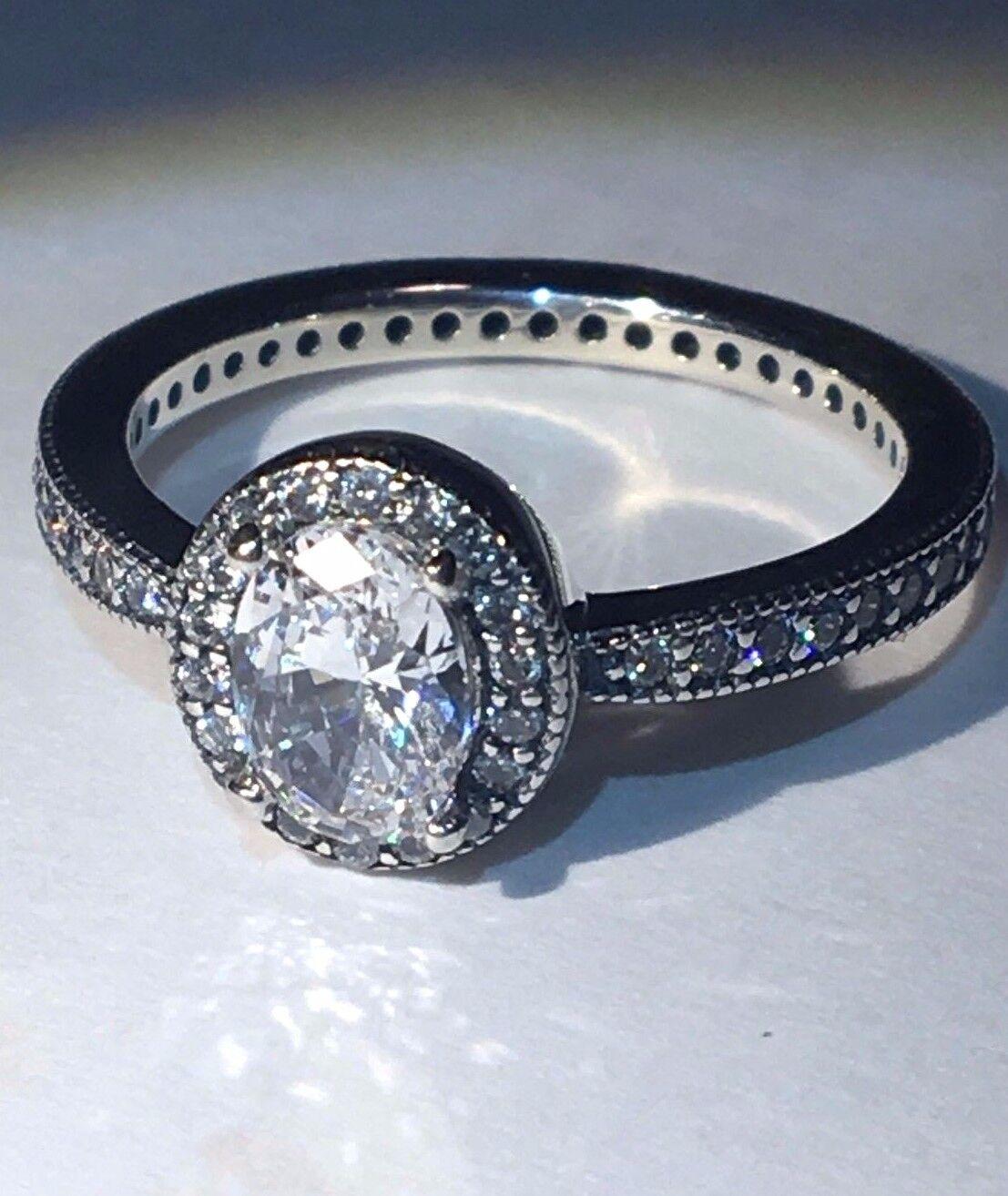 90e5bb7165d15 PANDORA Radiant Elegance Ring S925 Ale Size 52