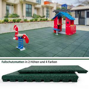 Floordirekt-Fallschutzplatten-Fallschutzmatten-Gummimatten-Bodenmatten-Gruen