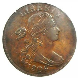 1806-Draped-Bust-Large-Cent-1C-S-270-Certified-NGC-AU53-3-925-Value