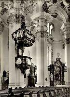 STEINHAUSEN Wallfahrtskirche b/ Bad Schussenried s/w AK Postkarte Kirche 1967