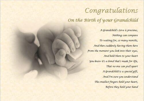 laminated gift NEW GRANDPARENTS GIFT