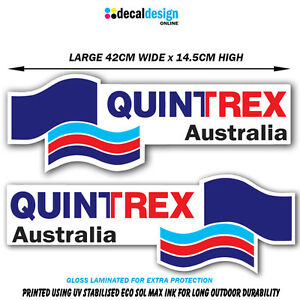 Quintrex-Boat-Decal-Set-UV-Resistant-amp-Laminated-Vinyl-stickers-x-2-fishing