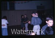 1963 kodachrome Photo slide teen girls and boys at school dance #2 Oregon