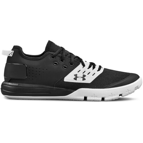 Men/'s Under Armour Charged Ultimate 3.0 Training Shoe Black//White