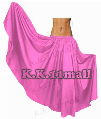 Satin Full circle Belly Dancing Skirt Tribal ATS Gypsy  Skirt Fusion Dance S8-1