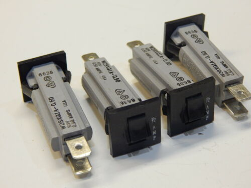 YOU GET 4 PIECES P/&B W28XQ1A-0.50 1//2 A 0.5 AMP CIRCUIT BREAKER
