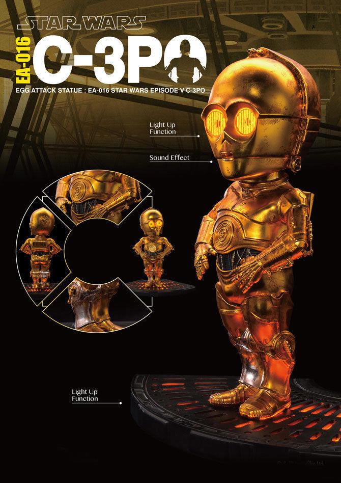 nuevo  C-3PO Estrella Wars  Imperio Contraataca Bestia Reino ataque de huevo estatuilla 6