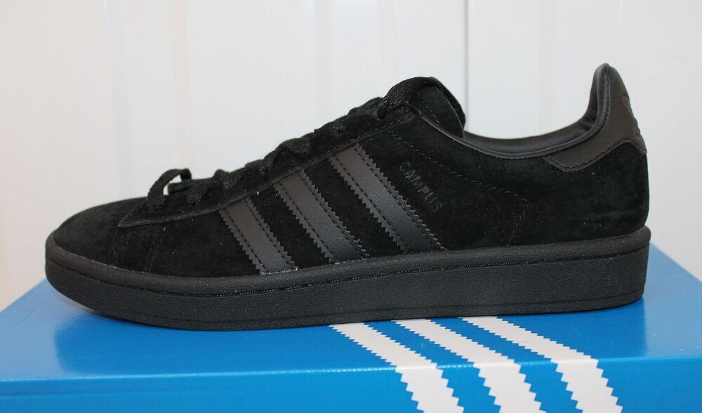 Hommes, S Adidas ORIGINALS CAMPUS Triple Noir Baskets BZ0079 Entièrement neuf dans sa boîte 34-