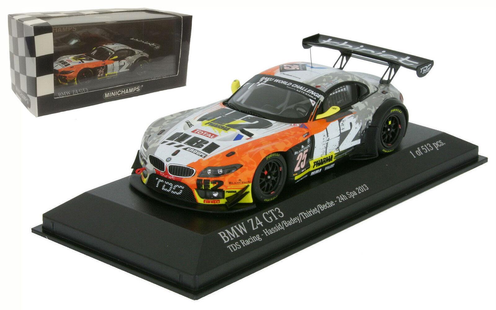 Minichamps BMW Z4 GT3 'TDS Racing' H Spa 2013-escala 1 43