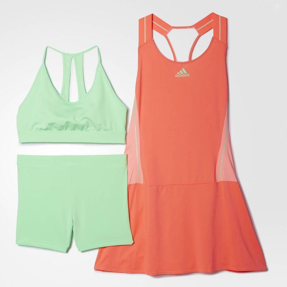Adidas Women's Pro Player WTA Adizero Tennis Dress Red   Green S09308 Size