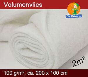Volumenvlies 100g/m² // Wattevlies Polsterwatte Steppvlies Polyestervlies Diolen