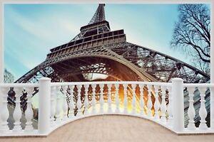 Huge-3D-Balcony-Eiffel-Tower-Paris-Wall-Stickers-Decal-Wallpaper-362