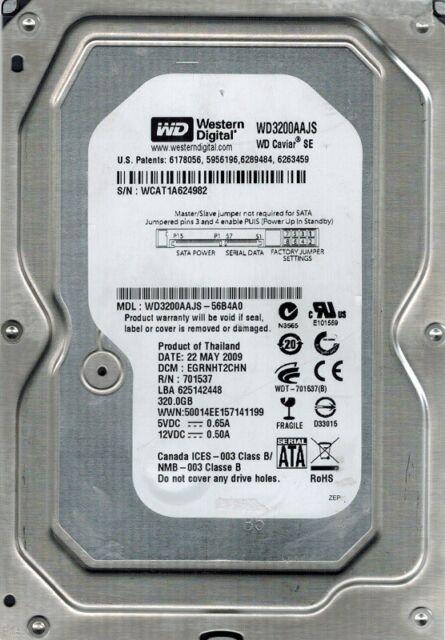 Western Digital WD3200AAJS-56B4A0 320GB DCM: EGRNHT2CHN