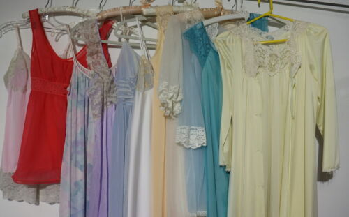 LOT of 12 Vintage Lingerie Sz XS 32 Nightgowns Rob