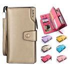 Women PU Leather Wallet Lady Card Coin Holder Long Purse Clutch Zipper Bag GH