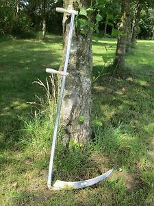 Scythe-Alpine-Large-Grass-Light-Scythe-Snaith-1-5m-Long-amp-60cm-Blade-Tuck-Type