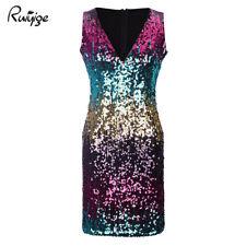 item 2 Womens Ladies Sequin Deep V Neck Mini Dress Party Clubwear Evening Plunge  Dress -Womens Ladies Sequin Deep V Neck Mini Dress Party Clubwear Evening  ... a47c1307a