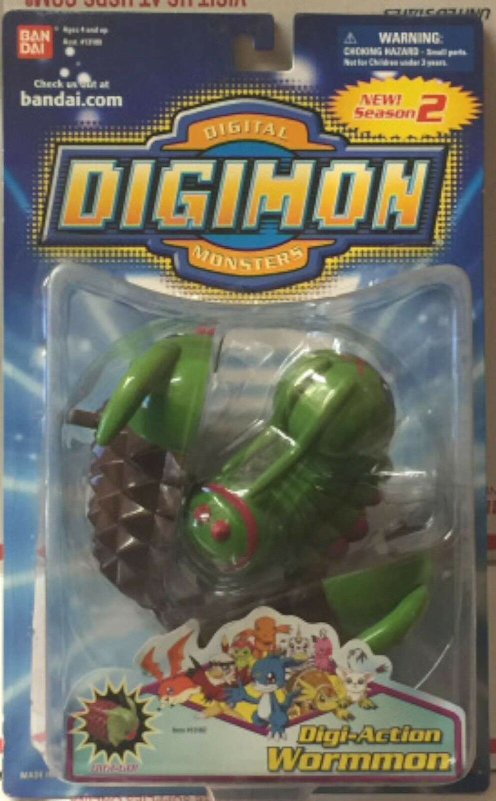 DIGIMON SEASON 2 DIGI-ACTION WORMMON New New New ebbd39