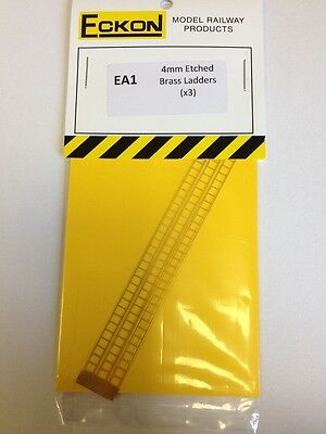 Eckon Ea1 - 00 Gauge 4mm Scale - 3 X Etched Brass Signal Ladders -1st Class Post