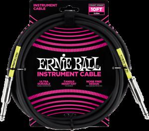 JACK 3M ERNIE BALL série CLASSIC 6048 NOIR instrument JACK CABLE guitare