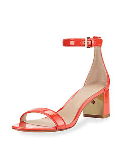 8dafe005d New Tory Burch Cecile 55mm Pepper Red Patent Leather Ankle Strap ...